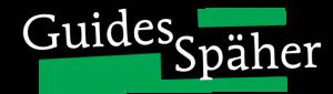 """Schriftzug """"Guides Späher"""" auf grünem Hintergrund"""