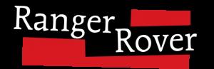 """Schriftzug """"Ranger Rover"""" auf rotem Hintergrund"""